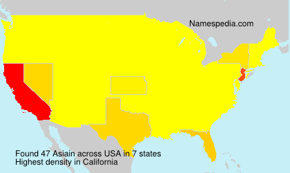 Surname Asiain in USA