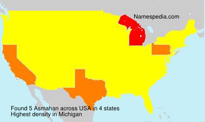 Surname Asmahan in USA