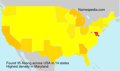 Surname Asong in USA