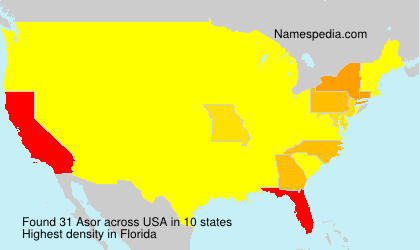 Surname Asor in USA