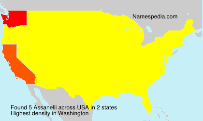 Surname Assanelli in USA