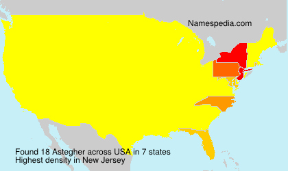 Surname Astegher in USA
