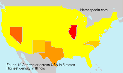 Surname Attermeier in USA
