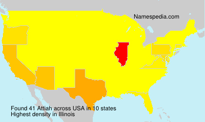 Surname Attiah in USA