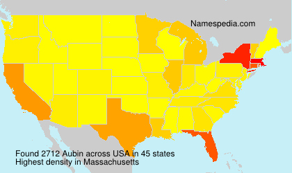 Surname Aubin in USA