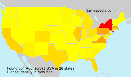 Surname Audi in USA
