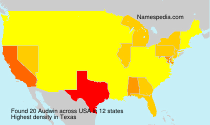Surname Audwin in USA