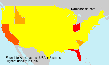 Surname Ausse in USA
