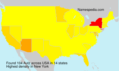 Surname Autz in USA