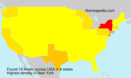 Surname Avelin in USA