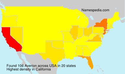 Surname Averion in USA