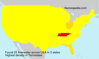Surname Averwater in USA