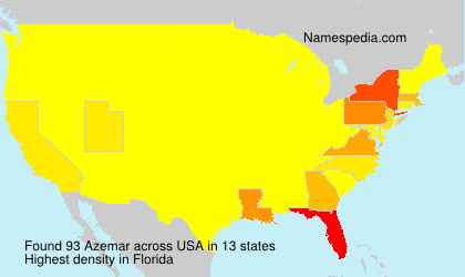 Surname Azemar in USA