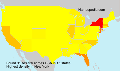 Surname Azzariti in USA