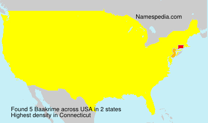 Surname Baakrime in USA