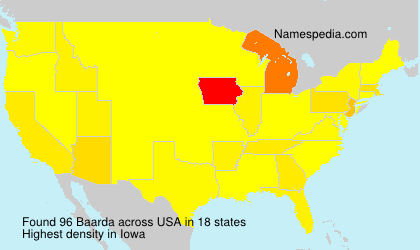 Surname Baarda in USA