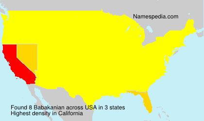 Surname Babakanian in USA