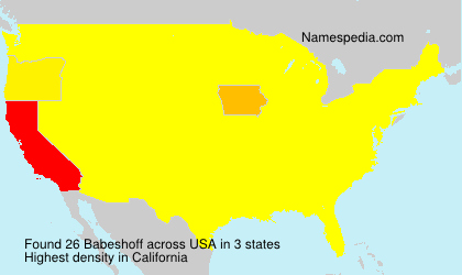 Surname Babeshoff in USA