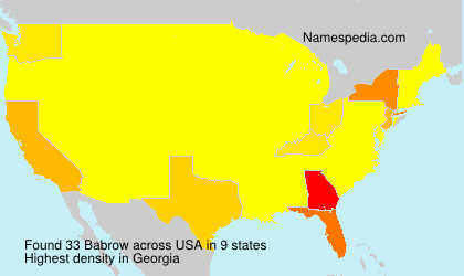 Surname Babrow in USA
