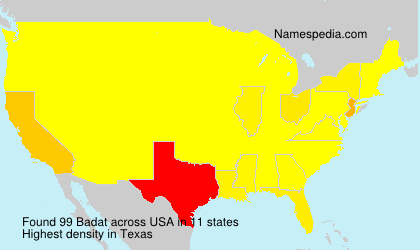 Surname Badat in USA