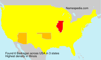 Surname Badragan in USA