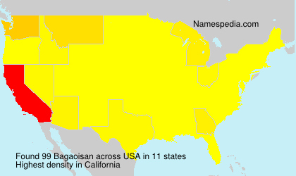 Surname Bagaoisan in USA