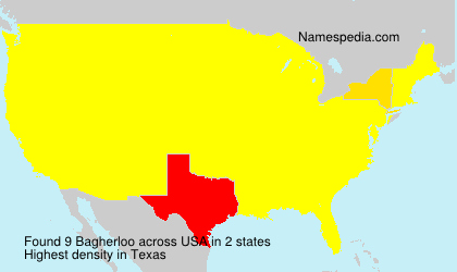 Surname Bagherloo in USA