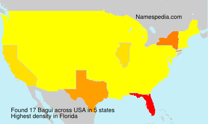 Surname Bagui in USA