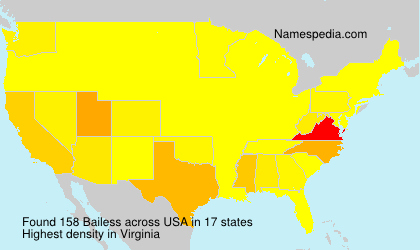 Surname Bailess in USA