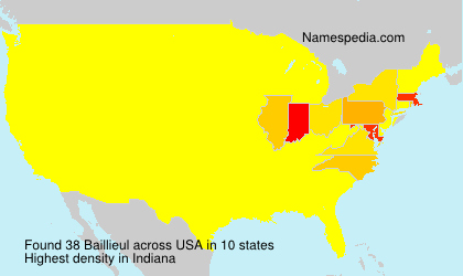 Surname Baillieul in USA
