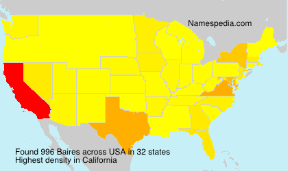 Surname Baires in USA