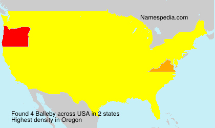 Surname Balleby in USA