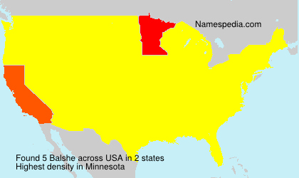 Surname Balshe in USA