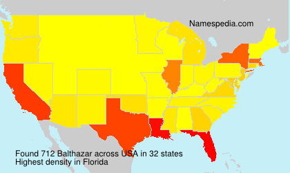 Surname Balthazar in USA