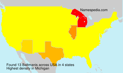 Surname Baltmanis in USA
