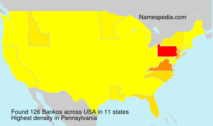 Surname Bankos in USA