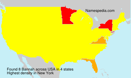 Surname Bannah in USA