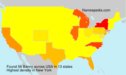 Surname Banny in USA