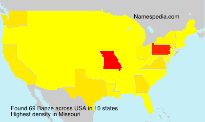 Surname Banze in USA