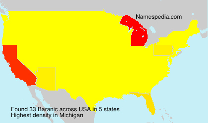 Surname Baranic in USA