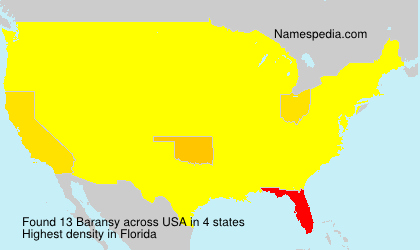 Surname Baransy in USA