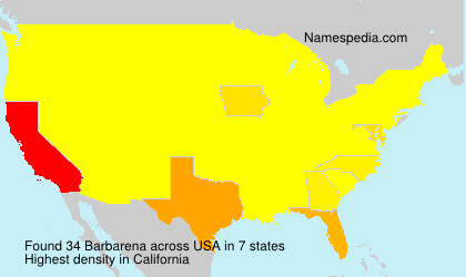 Surname Barbarena in USA