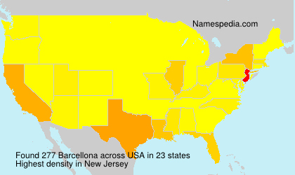 Surname Barcellona in USA