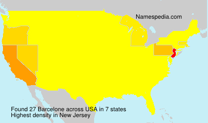 Surname Barcelone in USA