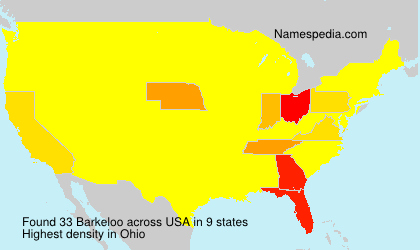 Surname Barkeloo in USA