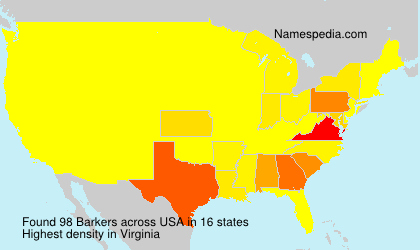 Surname Barkers in USA