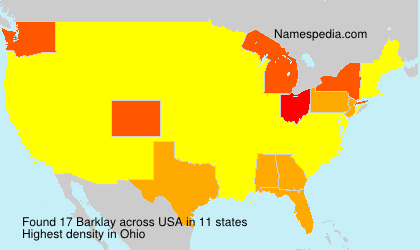 Surname Barklay in USA