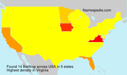 Surname Barltrop in USA