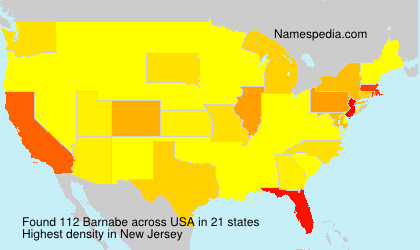 Surname Barnabe in USA