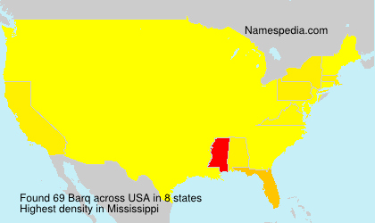Surname Barq in USA